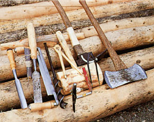 Alone in the wilderness the story of dick proenneke by for Tools to build a house
