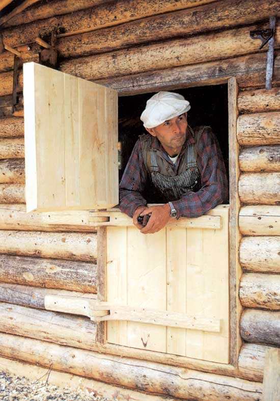 Dick Proenneke added Dutch Doors to his cabin