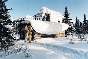 Dick Proenneke's cabin in Winter